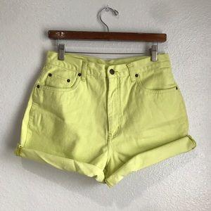 Vintage Bill Blass High Waist Mom Jean Shorts